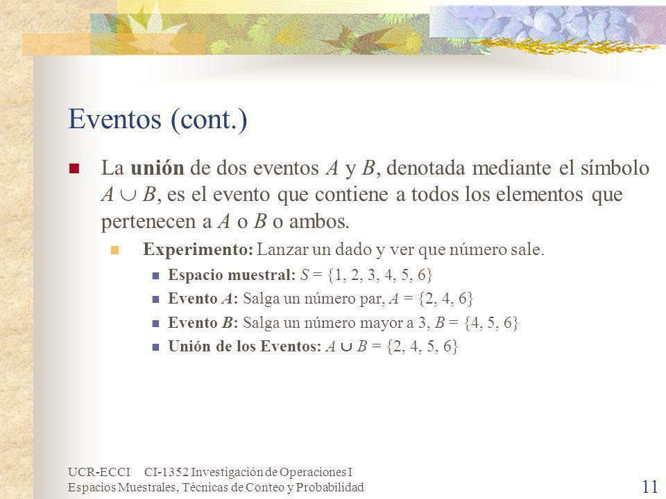 Eventos (cont.)