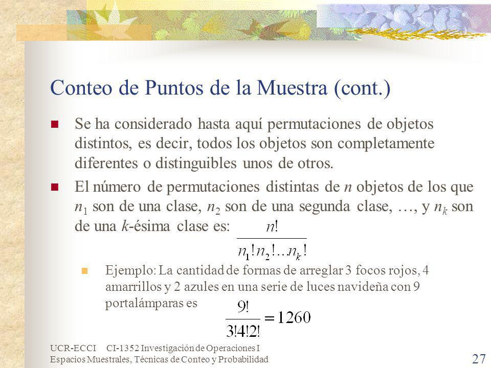 Conteo de Puntos de la Muestra (cont.)