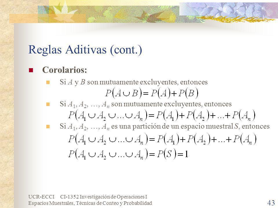 Reglas Aditivas (cont.)