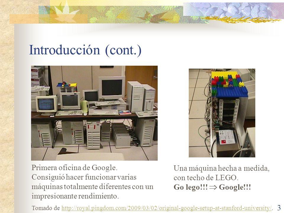 Introducción (cont.) Primera oficina de Google.