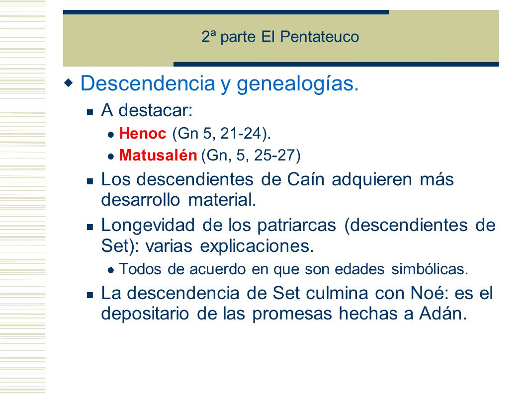 Descendencia y genealogías.
