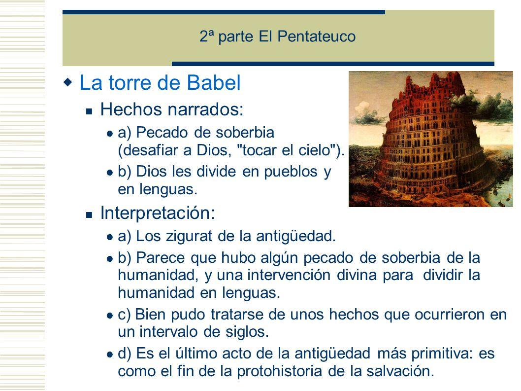 La torre de Babel Hechos narrados: Interpretación: