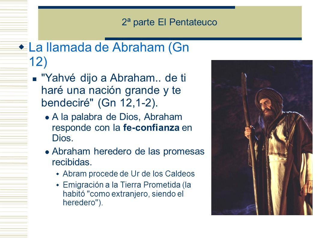 La llamada de Abraham (Gn 12)