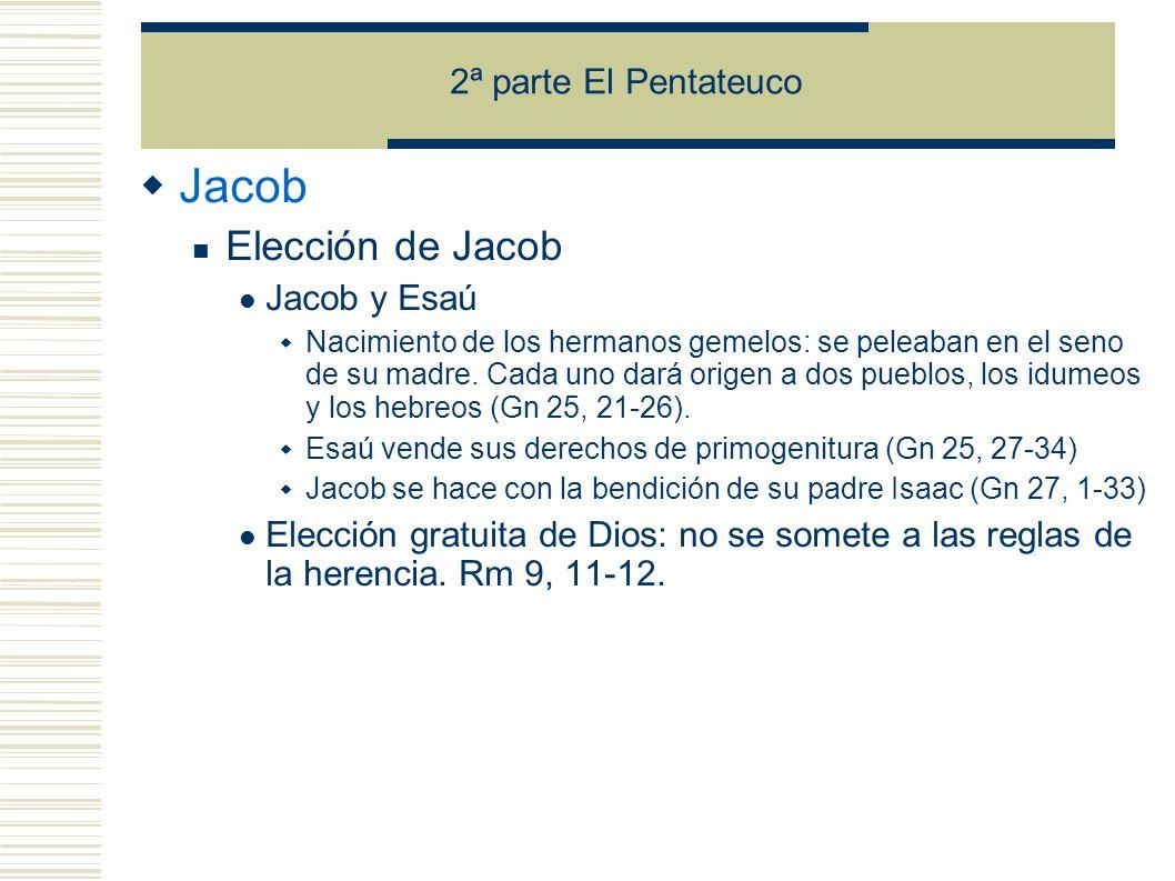Jacob Elección de Jacob 2ª parte El Pentateuco Jacob y Esaú
