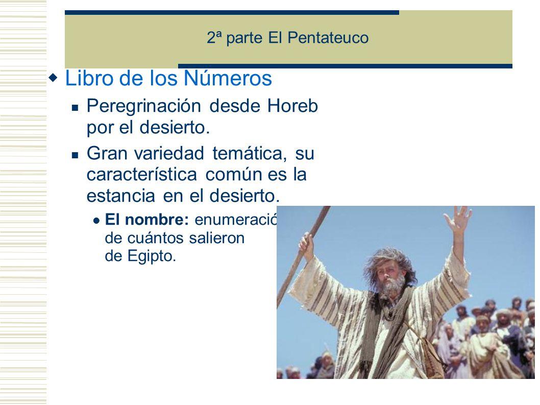 Libro de los Números Peregrinación desde Horeb por el desierto.