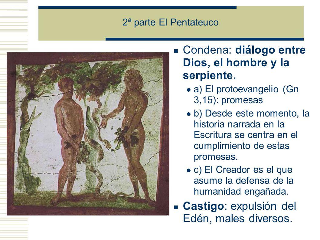 Condena: diálogo entre Dios, el hombre y la serpiente.