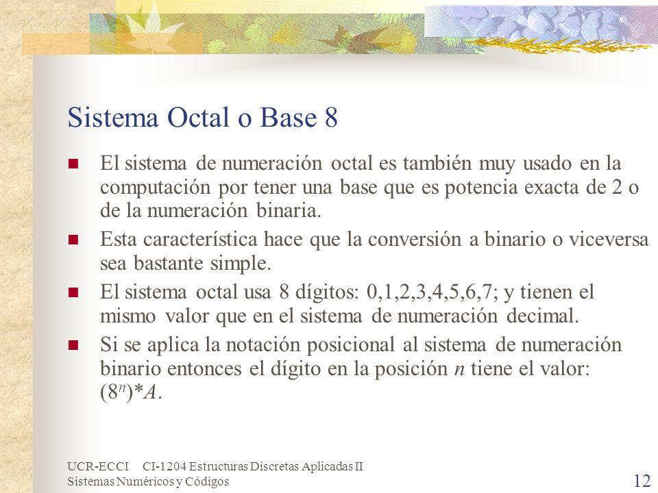 Sistema Octal o Base 8