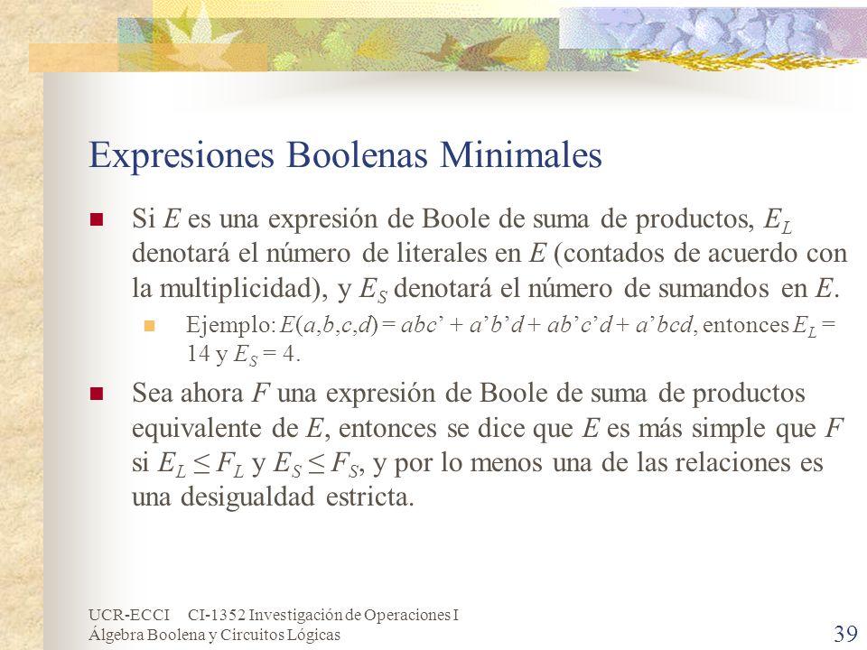 Expresiones Boolenas Minimales