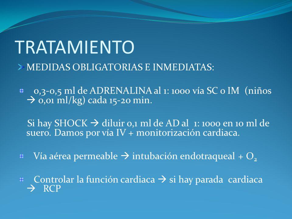 TRATAMIENTO MEDIDAS OBLIGATORIAS E INMEDIATAS: