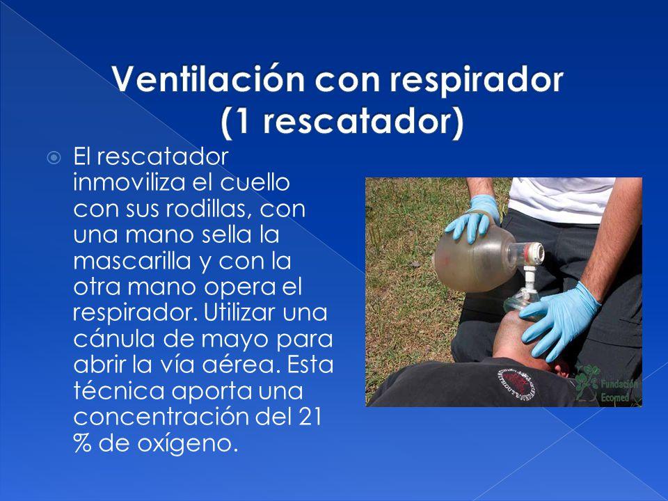 Ventilación con respirador (1 rescatador)