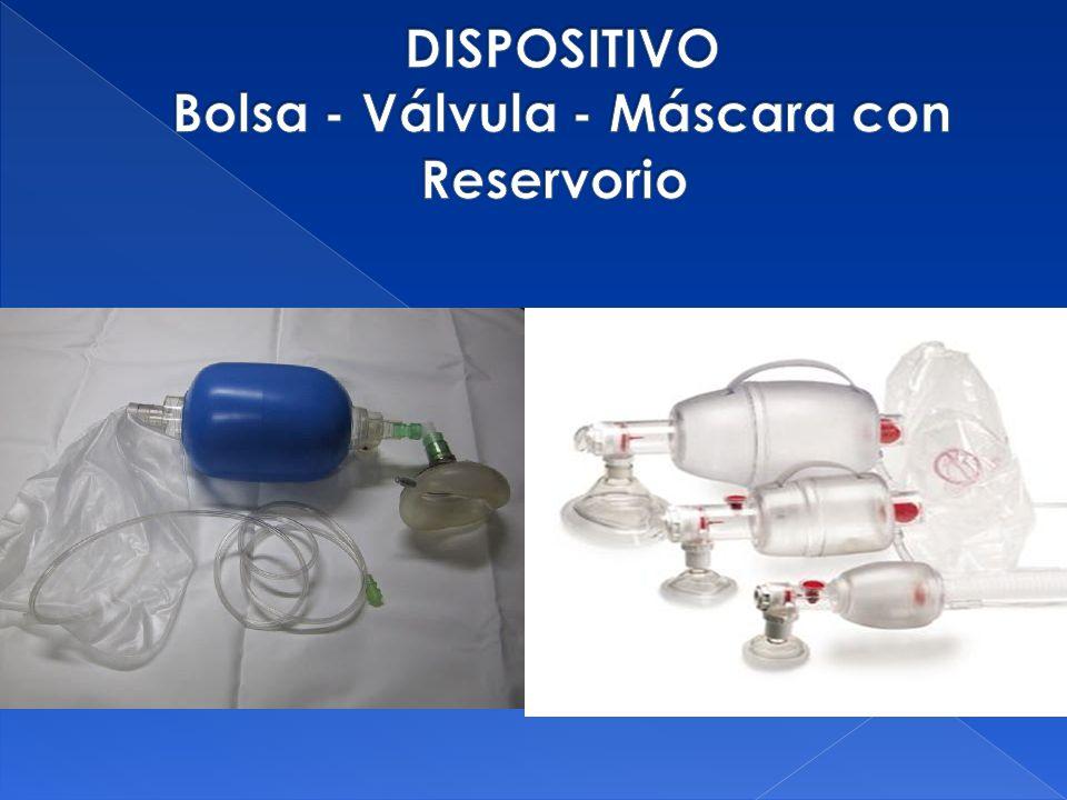 DISPOSITIVO Bolsa - Válvula - Máscara con Reservorio