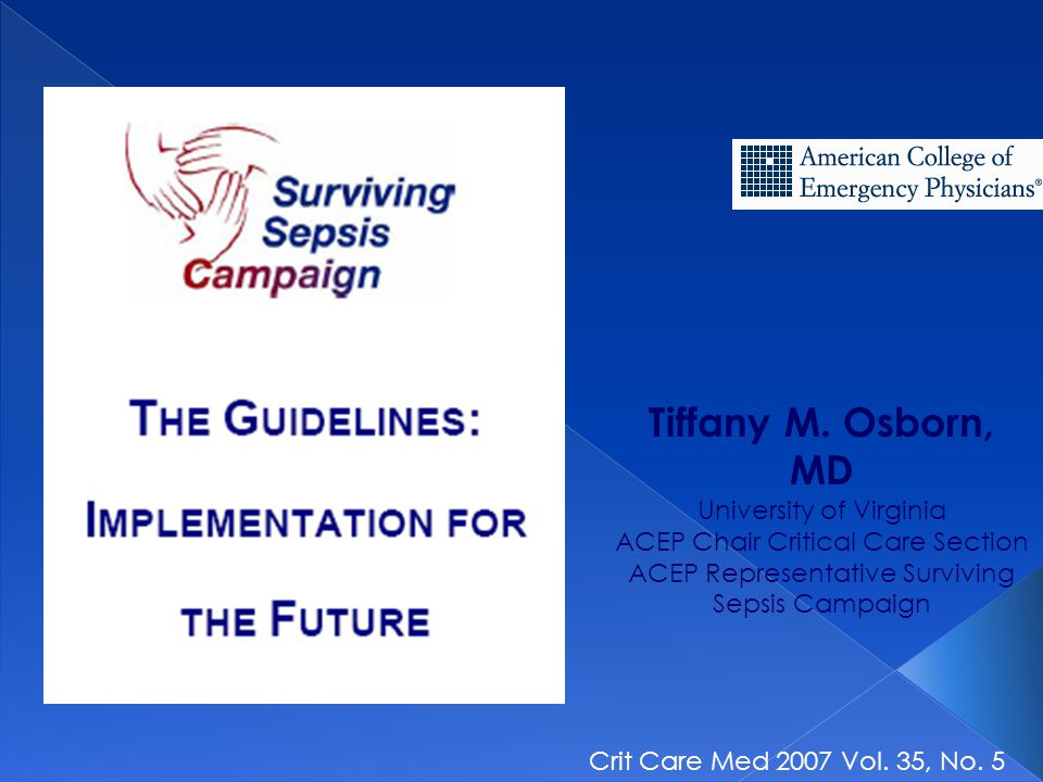 Tiffany M. Osborn, MD University of Virginia