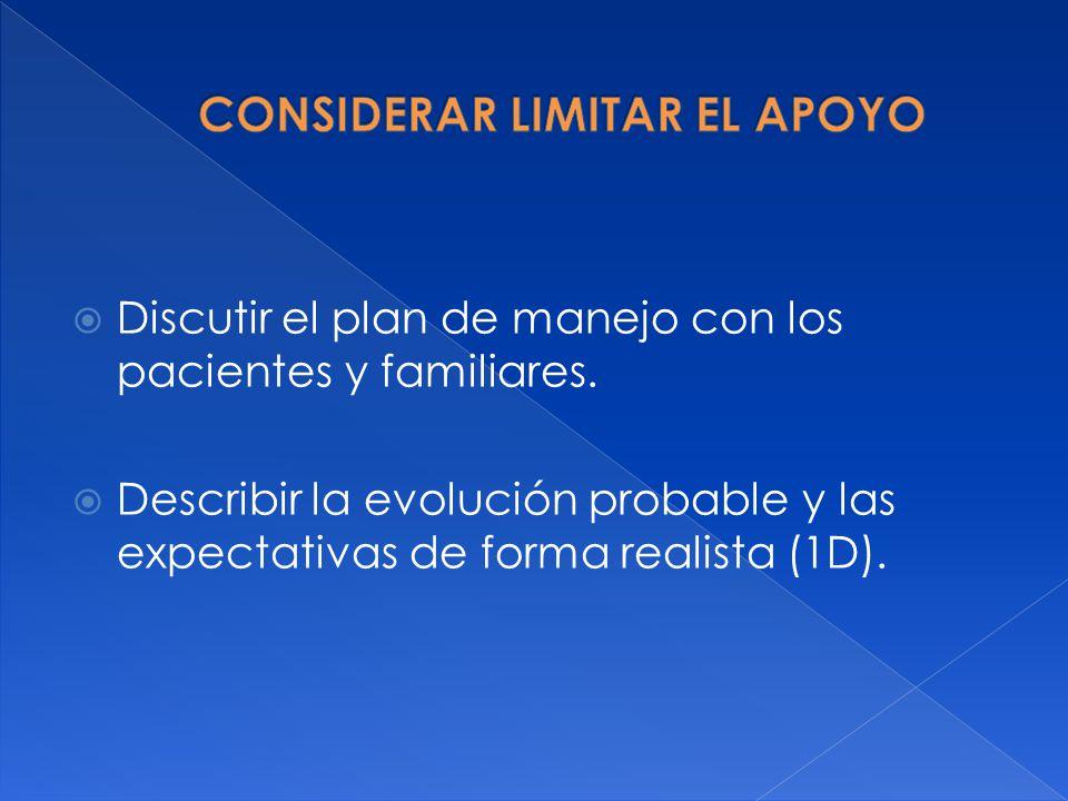 CONSIDERAR LIMITAR EL APOYO