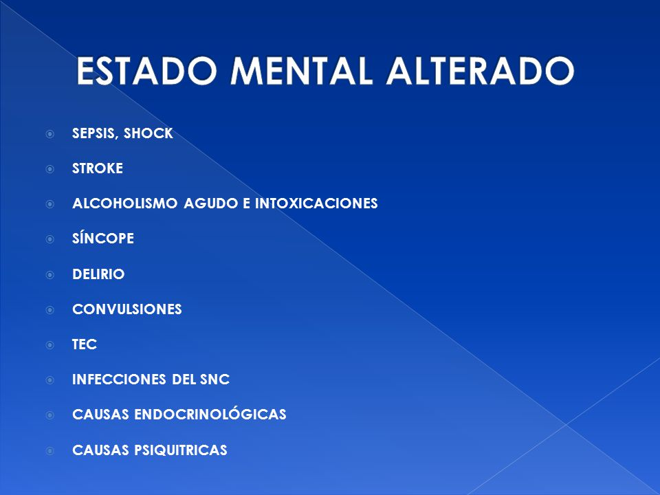 ESTADO MENTAL ALTERADO