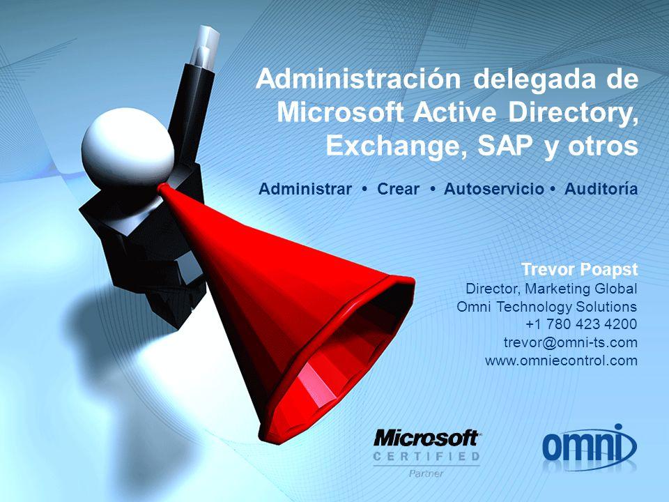 Administración delegada de Microsoft Active Directory, Exchange, SAP y otros