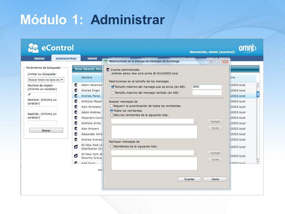 Módulo 1: Administrar