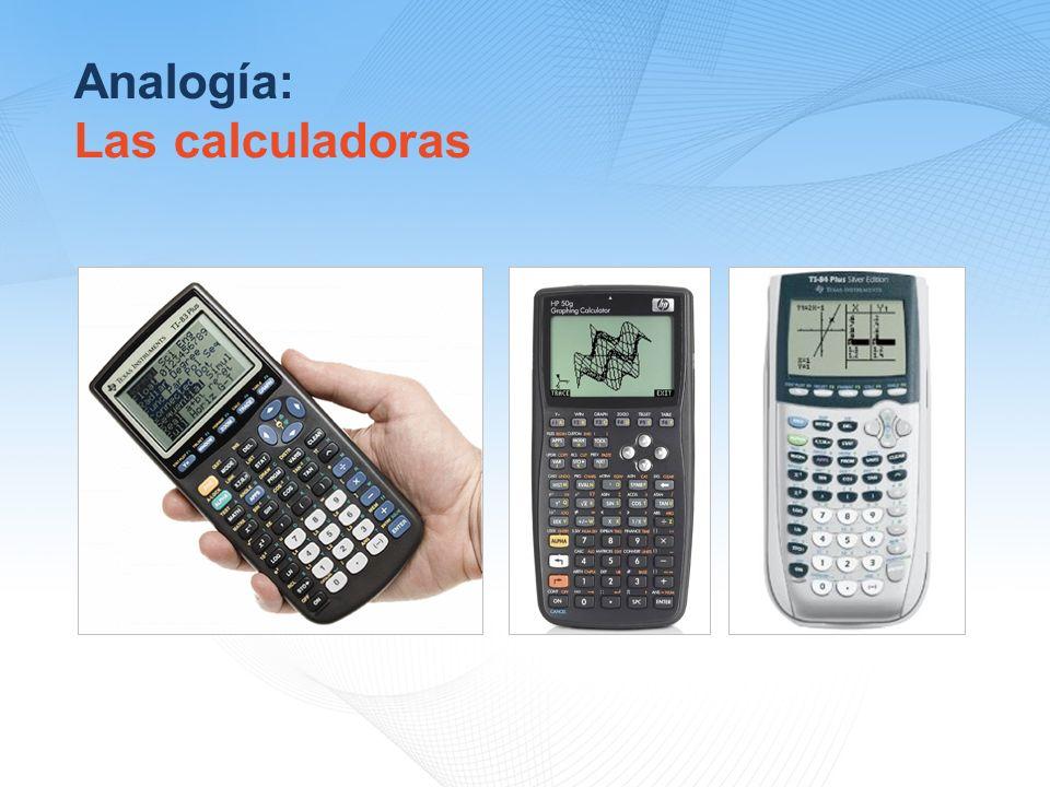 Analogía: Las calculadoras