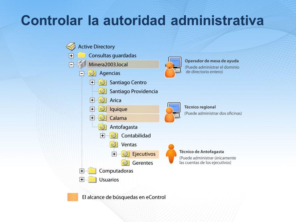Controlar la autoridad administrativa
