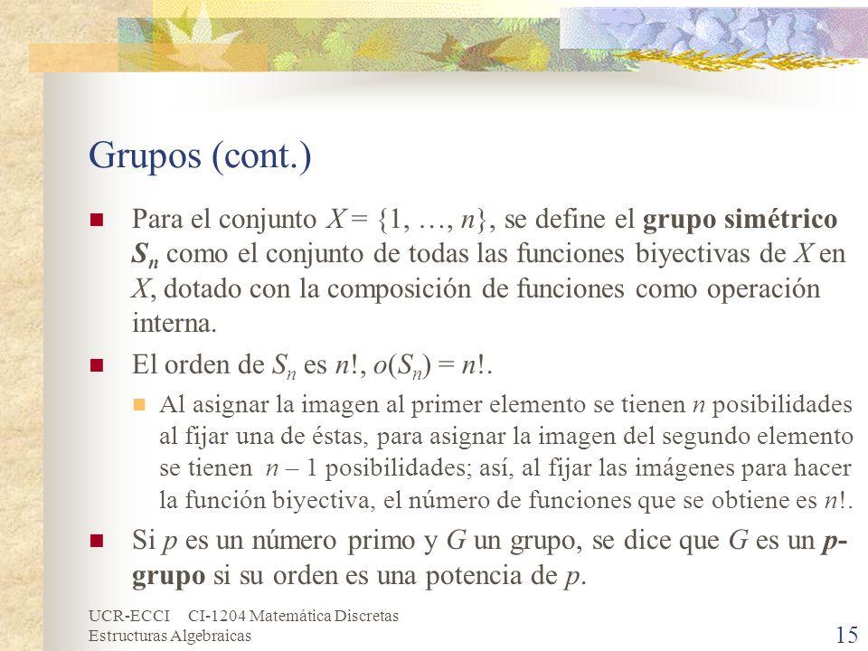 Grupos (cont.)