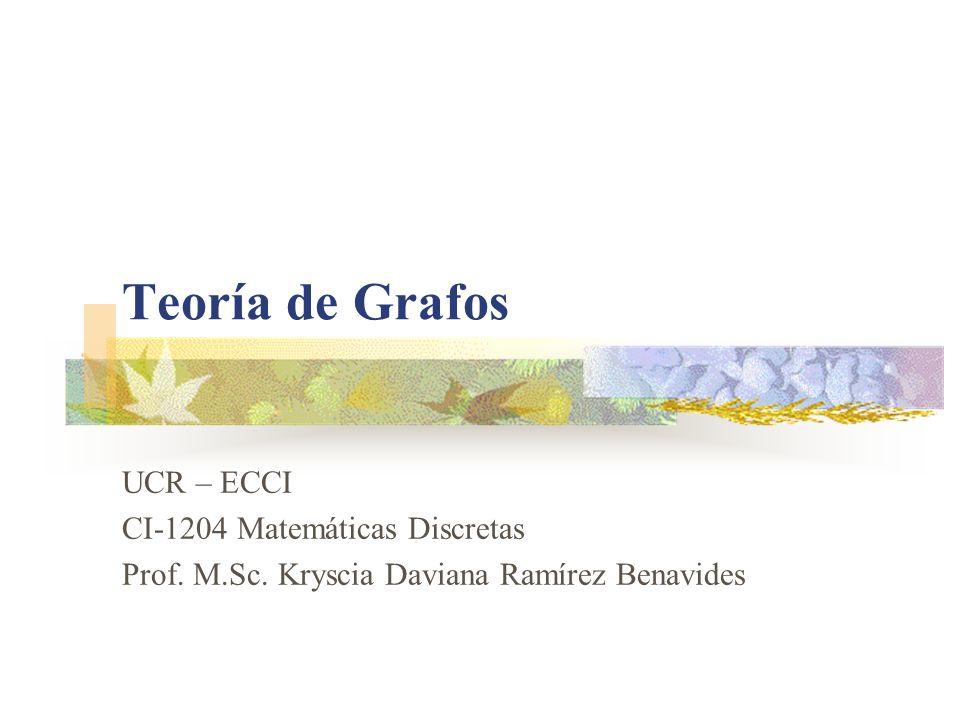 Teoría de Grafos UCR – ECCI CI-1204 Matemáticas Discretas