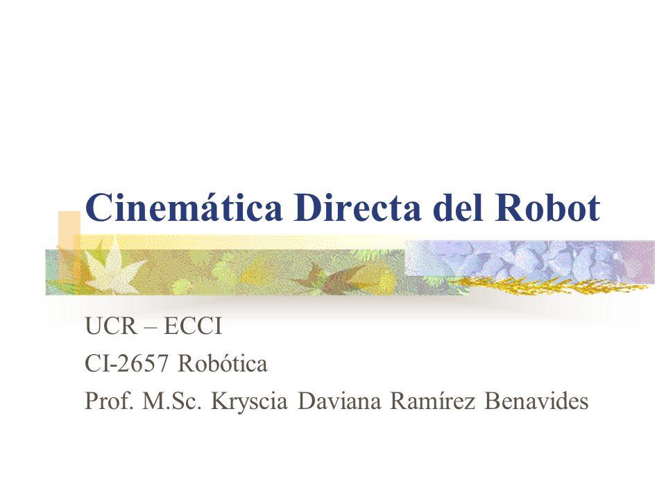Cinemática Directa del Robot