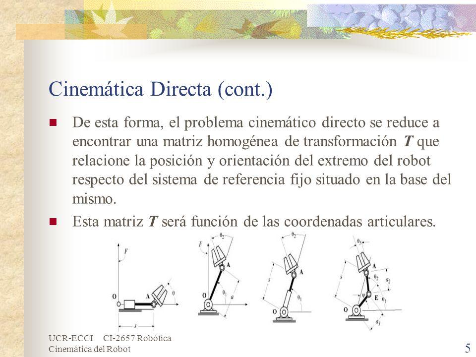 Cinemática Directa (cont.)