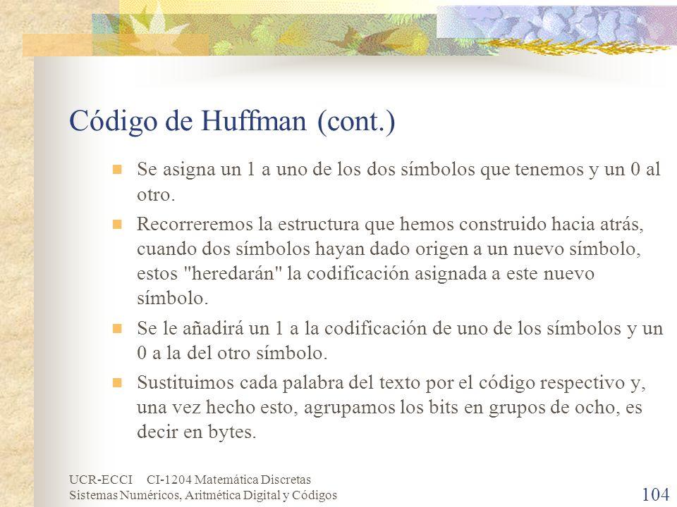 Código de Huffman (cont.)