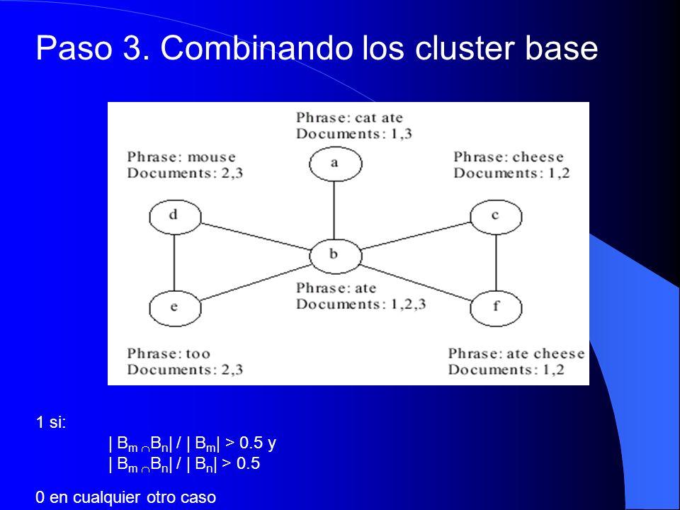 Paso 3. Combinando los cluster base