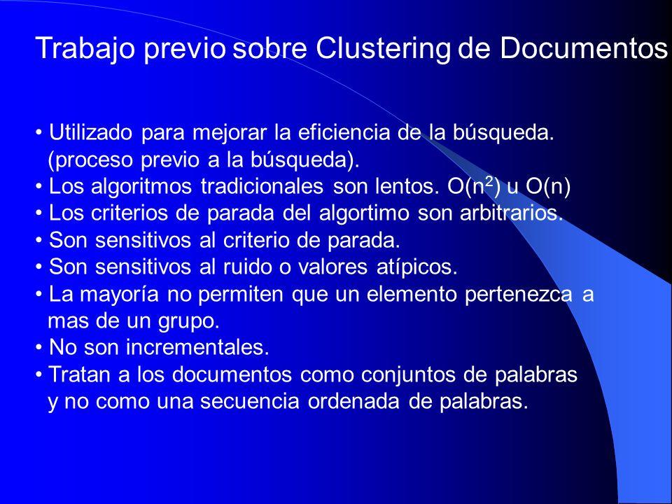 Trabajo previo sobre Clustering de Documentos