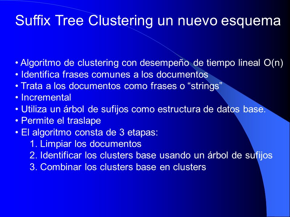 Suffix Tree Clustering un nuevo esquema