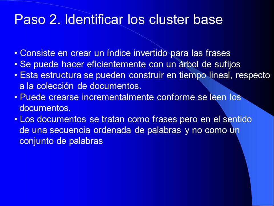 Paso 2. Identificar los cluster base