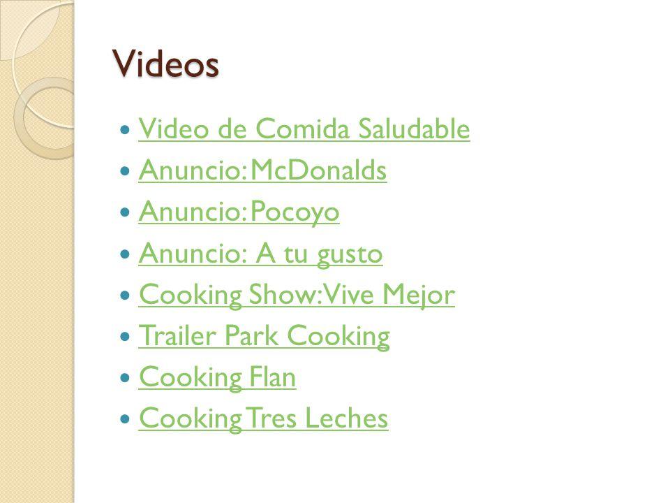 Videos Video de Comida Saludable Anuncio: McDonalds Anuncio: Pocoyo