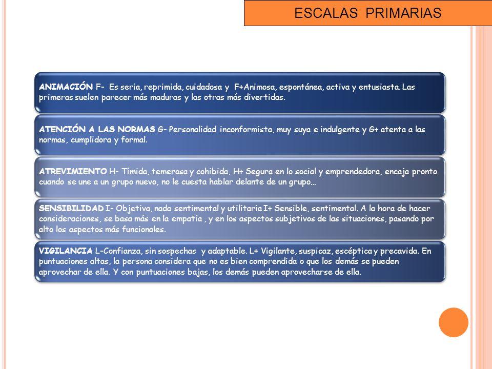 ESCALAS PRIMARIAS