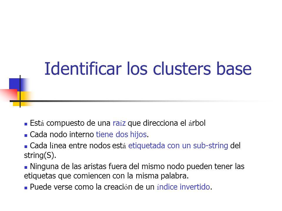 Identificar los clusters base