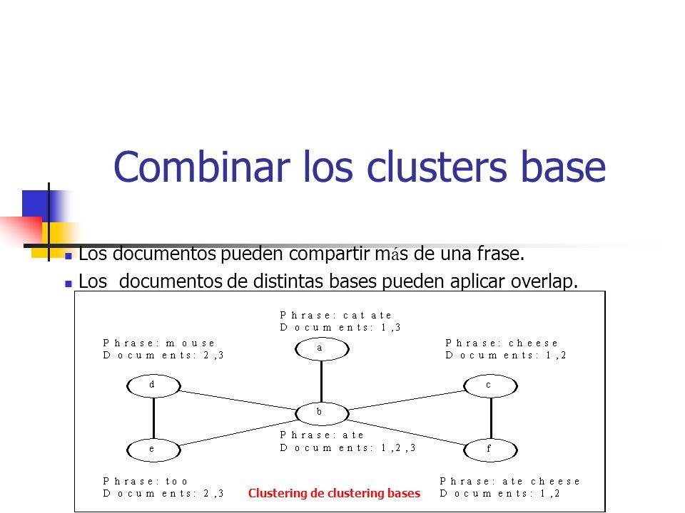 Combinar los clusters base