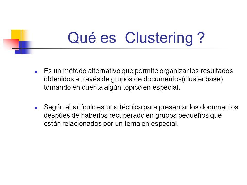 Qué es Clustering