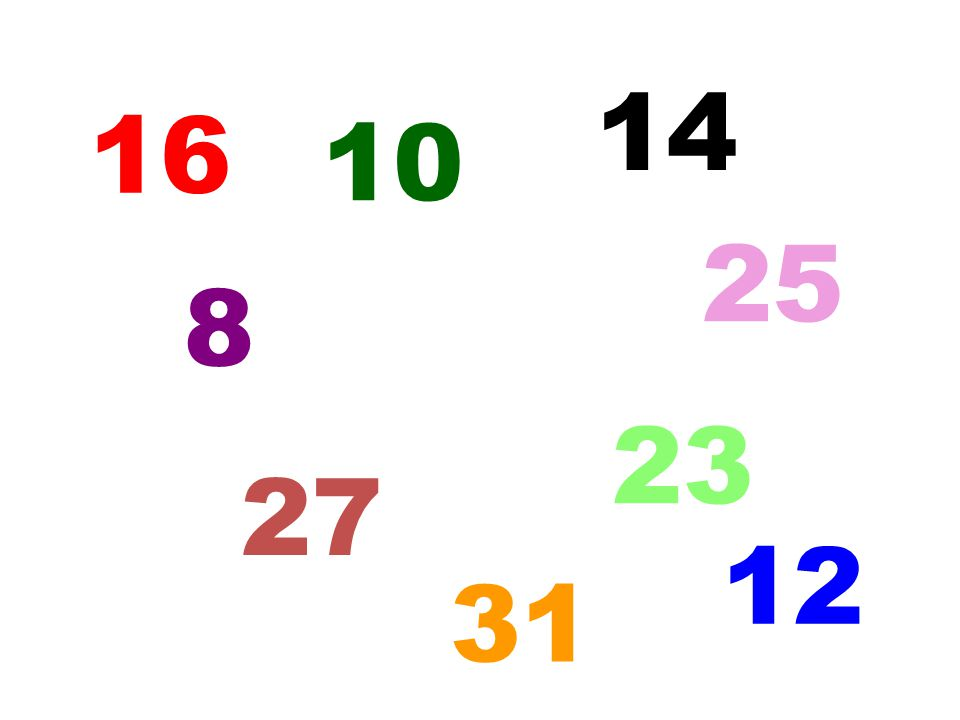 14 16 10 25 8 23 27 12 5 31