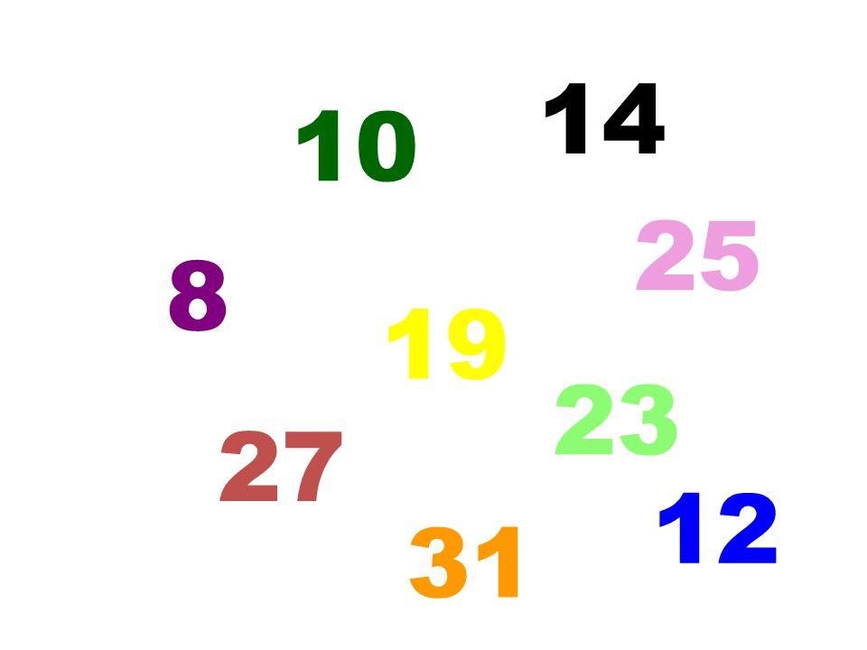 14 10 25 8 19 23 27 12 5 31