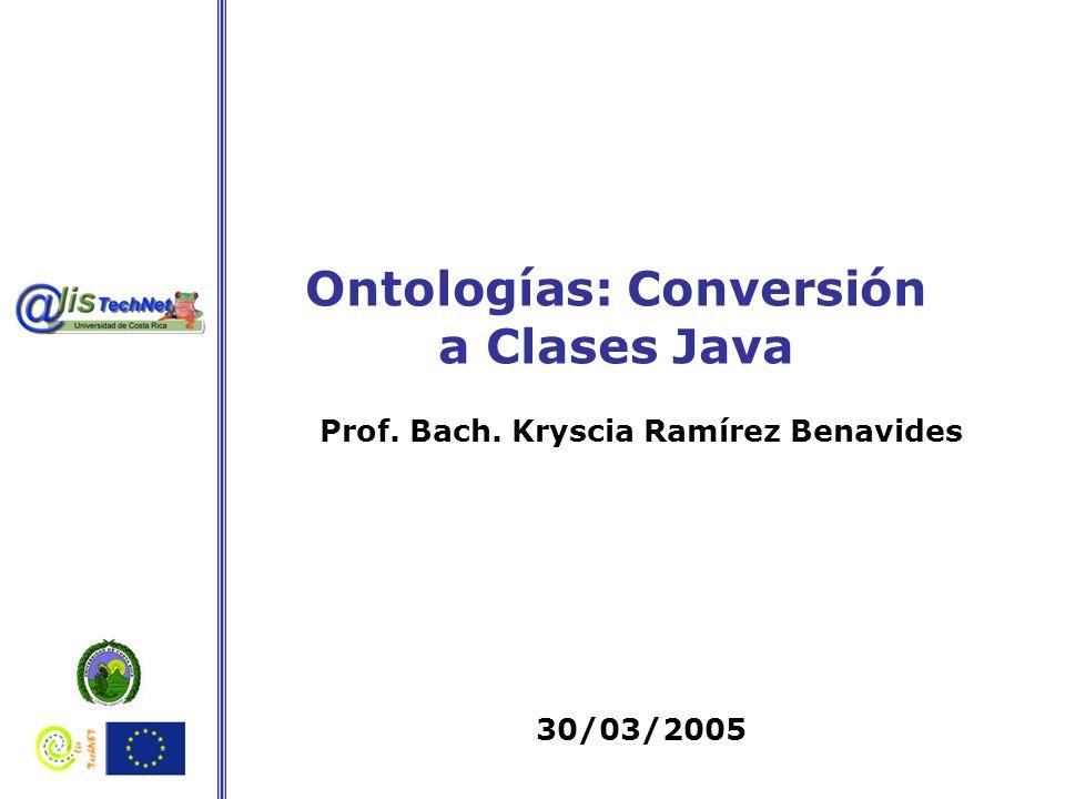 Ontologías: Conversión a Clases Java