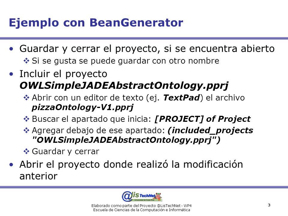 Ejemplo con BeanGenerator