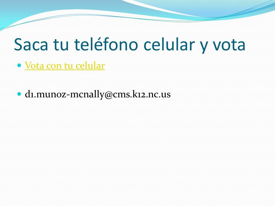 Saca tu teléfono celular y vota