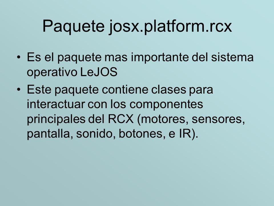 Paquete josx.platform.rcx