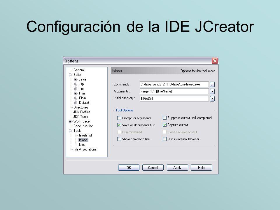 Configuración de la IDE JCreator