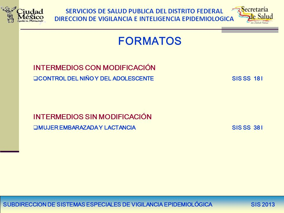 FORMATOS INTERMEDIOS CON MODIFICACIÓN INTERMEDIOS SIN MODIFICACIÓN