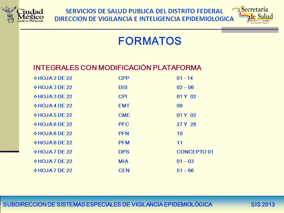 FORMATOS INTEGRALES CON MODIFICACIÓN PLATAFORMA