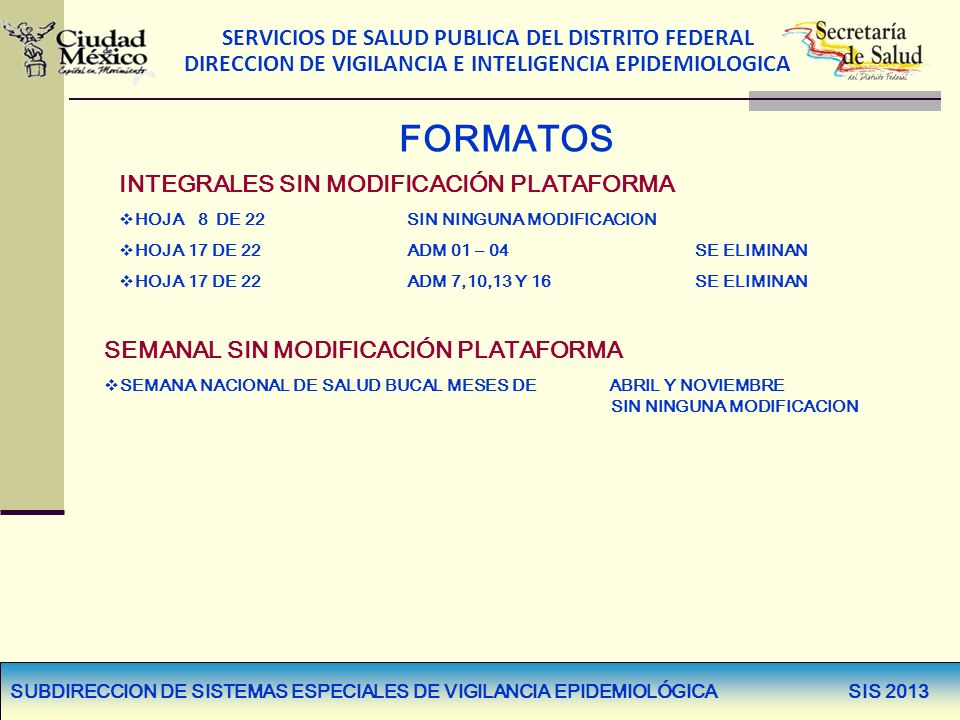 FORMATOS INTEGRALES SIN MODIFICACIÓN PLATAFORMA