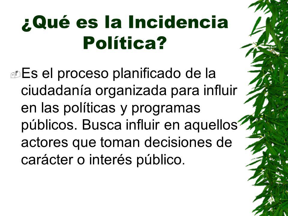 ¿Qué es la Incidencia Política