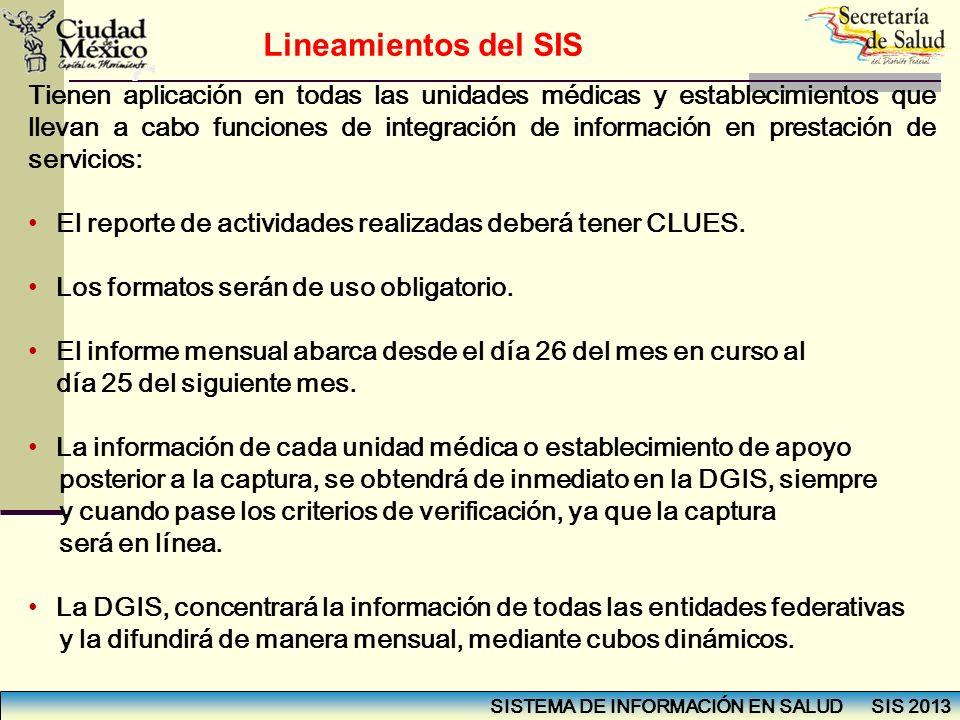 Lineamientos del SIS