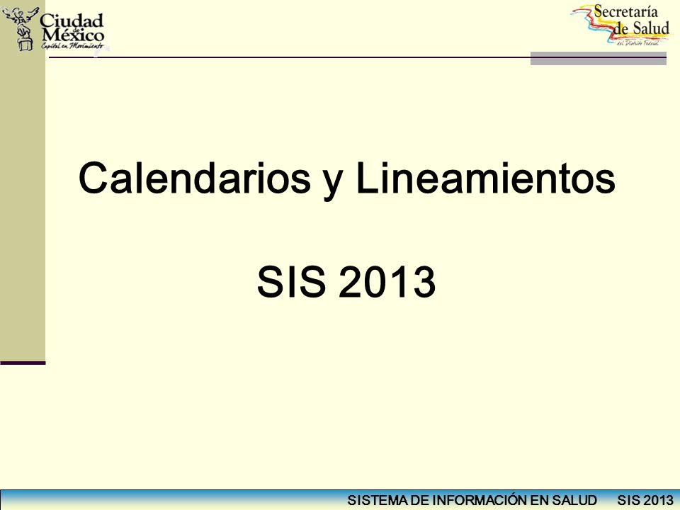 Calendarios y Lineamientos