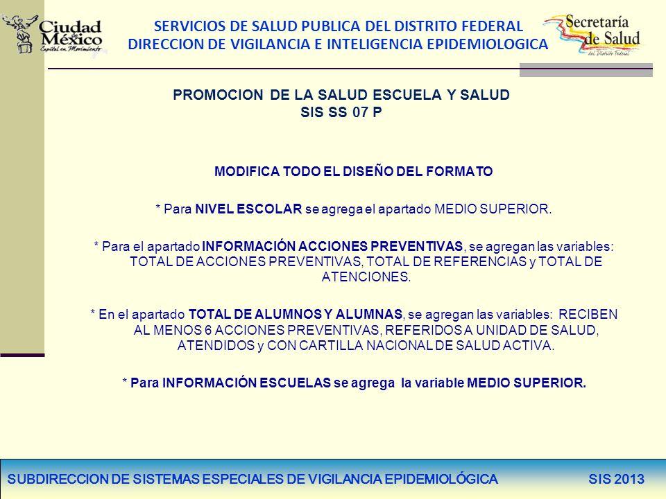 PROMOCION DE LA SALUD ESCUELA Y SALUD SIS SS 07 P